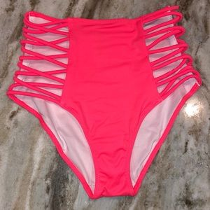 VS Pink High Waisted Cut-out Bottoms